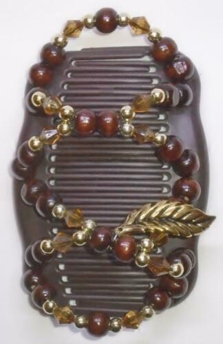 "Angel Wings Hair Clips 4x3.5/"" African Butterfly Style Fall Leaves MS63 Combs"