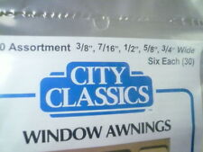 City Classics-HO Scale -- #900 Window Awnings Assortment (Pkg of 30)