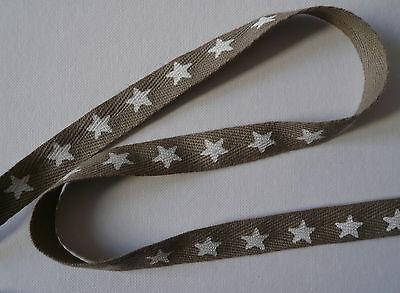Webband Sterne Sternchenband Farbenmix Bordüre Borte 7 mm