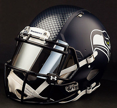 Custom Seattle Seahawks Full Size Nfl Riddell Speed Football Helmet Ebay