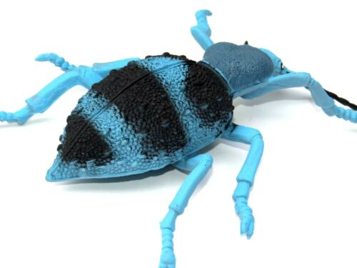 """Realistic Hand Painted Blue Velvet Ant Insect LARGE 6/"""" Plastic PVC Toy Figure"""