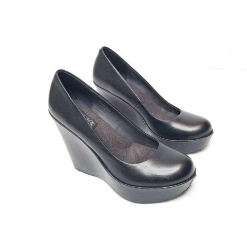 KORKS Kork-Ease Women's Black Platform Wedge Shoe