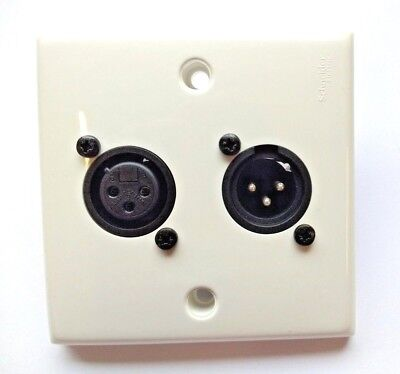Neutrik White Plastic Wall Plate Select Chassis Connectors Nc3fpp Or Mpp
