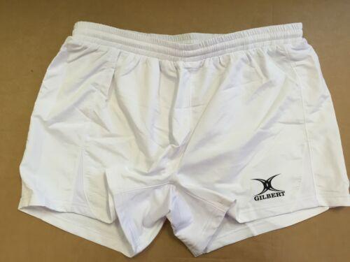 """White JW Clearance Line New Gilbert Kryten Match Rugby Shorts 2XL 40/"""" Waist"""