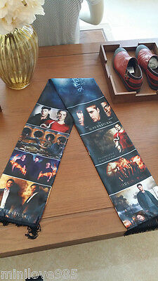 TV Supernatural Winchester Sam Dean Muffler Cosplay Costume Shawl Tasseled Scarf