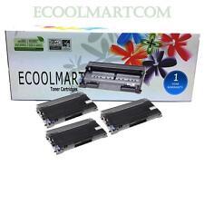 3 pack TN350 Toner + 1 pack DR350 Drum fits Brother HL-2040 DCP-7020 Printer