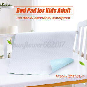 70-90cm-Washable-Reusable-Waterproof-Underpad-Incontinence-Bed-Pad-Kids-Adults