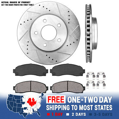 Front Brake Rotors Discs For Saturn VUE 2002 2003 2004 2005 2006 Drill and Slot