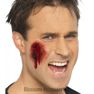 A861-Gory-Wounds-Halloween-Fake-Costume-Scars-Stick-On-Makeup-Zombie-Bloody