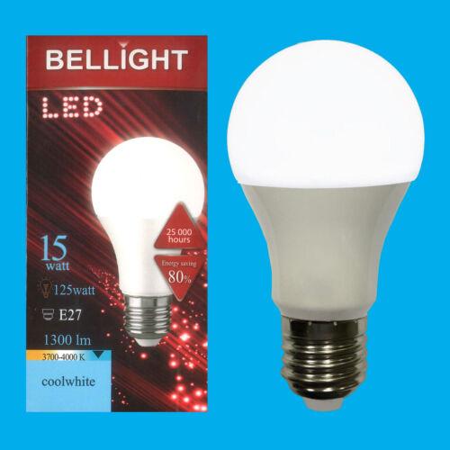 =125W LED 4000K Cool White ES E27 Edison Screw Light Bulb Lamp 4x 15W