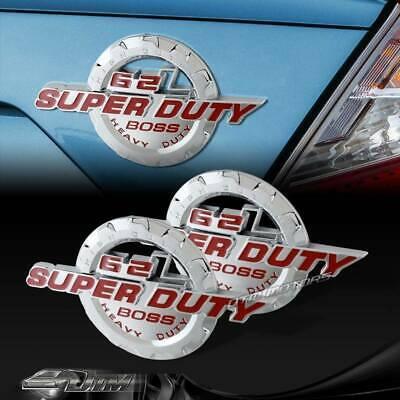 2 X RED 7.3L POWER STROKE SUPER DUTY FENDER//TRUNK 3D ALUMINUM EMBLEM BADGE