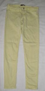 Womens-Flying-Monkey-Yellow-Denim-Pants-Stretch-Skinny-Jeans-Size-11-30-x-29