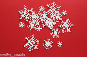 30-PC-SNOW-FLAKES-Christmas-Embellishments-Paper-DIE-CUTS