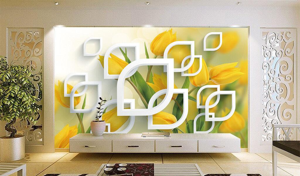 3D Tulpen Natürlich Box  983 Tapete Wandgemälde Tapeten Bild Familie DE Jenny