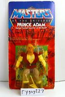 MOTU, Prince Adam, Masters of the Universe, MOC, carded, sealed, figure, He-Man
