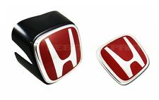 JDM FRONT & REAR RED-H EMBLEMS FOR HONDA ACURA RSX INTEGRA DC5 2002-2004 NEW