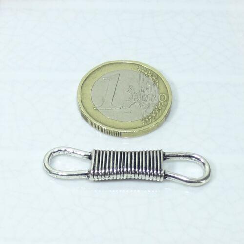 12 Abalorios Conectores 39x9mm T181A Plata Tibetana Conector Beads Silver