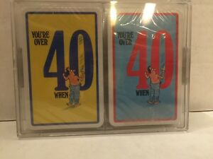 You're Over 40 When Vintage Playing Cards  Double Deck SEALED  Comedy