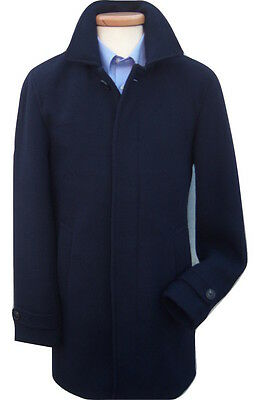Austin Reed Brand New Cromby Style Navy Blue Classic Wool Overcoat Coat Rrp 229 Ebay