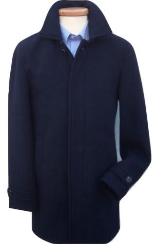 AUSTIN Reed Nuovissimo Cromby Stile Blu Navy Classico Lana Cappotto Cappotto RRP £ 229