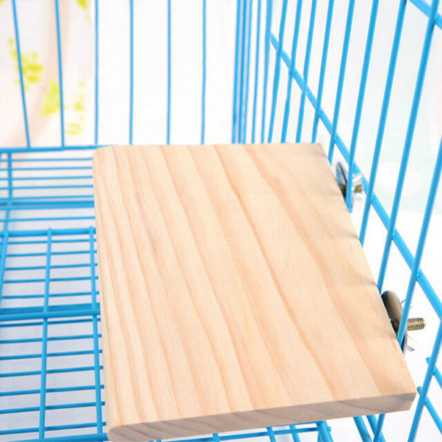 Wooden Parrot Bird Cage Perches Stand Platform Pet Parakeet Budgie Rat Toys