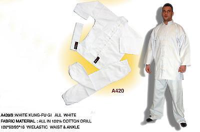 2019 Nuovo Stile Ishang Bianco Classico Kimono Wushu Wing Tsun Hang Kung Fu Suit Shaolin Jkd Gi