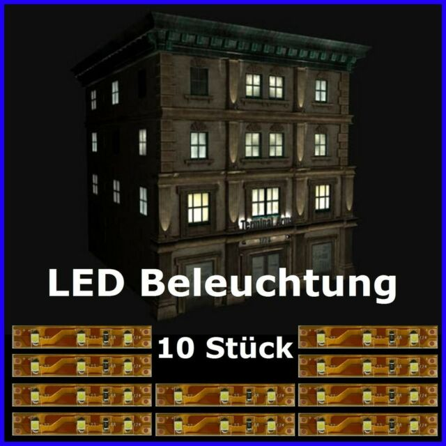 LED Interior Lighting White 5cm SMD Lighting Houses Building 10 Piece S333