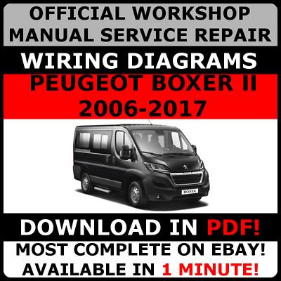 # official workshop service repair manual for peugeot boxer ii 2006-2017 + wiring 7625694711075 | ebay