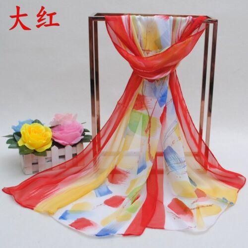 160 50cm Colourful Paint Brush Print Fashion Ladies Scarves Womens Shawls X278