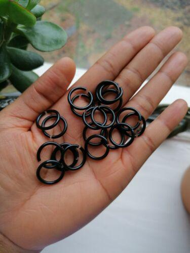 15 Handmade Hair Rings Braid ring BLACK Loc Jewellery Braid Hoops Jump Rings