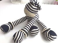 JELLY KITTEN Giraffe Blue/White Rattle Jellycat Soft Toy Buggy Baby Cot (A10)