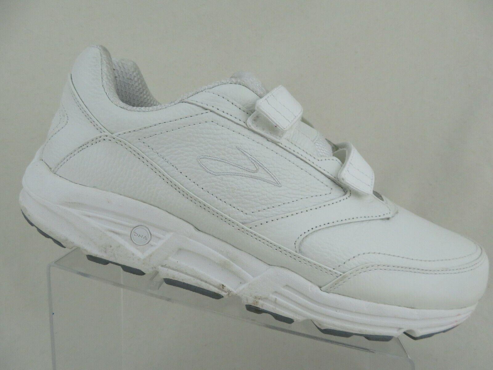 BROOKS Addiction Walker blancoo E Doble Correa Extra Ancho De Hombre Zapatos Para Caminar