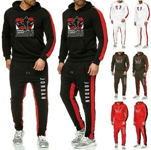 NEW-Mens-Michael-Air-Legend-23-Jordan-Tracksuit-Hoodie-amp-Pants-Men-Sportswear