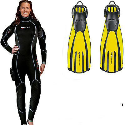 Mares FLEXA 8-6-5 Full She Dives Scuba Women/'s Wetsuit
