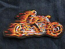 ECUSSON PATCH THERMOCOLLANT BIKER FLAMME ghost rider squelette rockabilly rock
