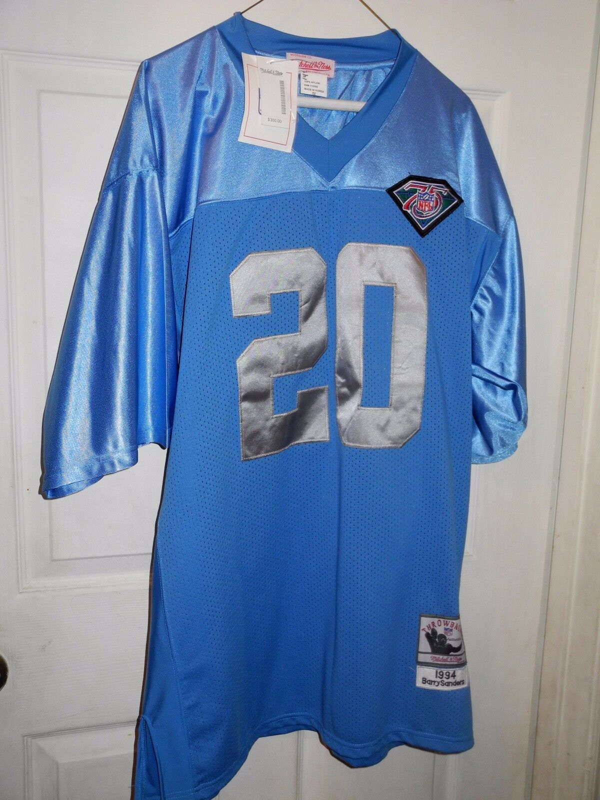 Nuevo Mitchell & Ness 1994 Barry Sanders Detroit Lions Camiseta Throwback Talla