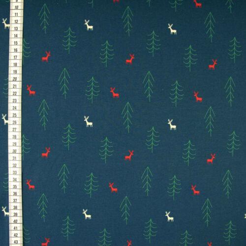 Baumwolljersey navidad Elche /& árboles señora sustancias Mode sustancias