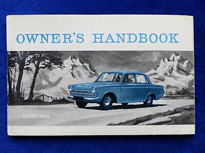 Ford Cortina De Luxe Gt - Uk-betriebsanleitung Owner Handbook 07.1964 England Reine WeißE