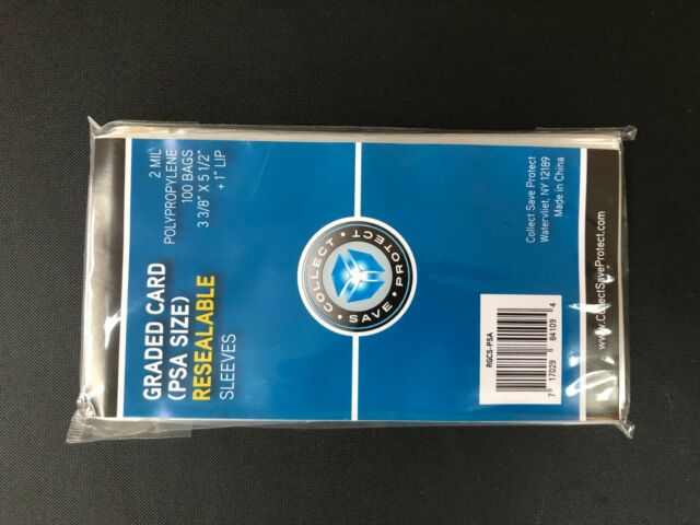 Collect Save Protect Psa Graded Resealable Card Sleeves Pack Of 100 For Sale Online Ebay