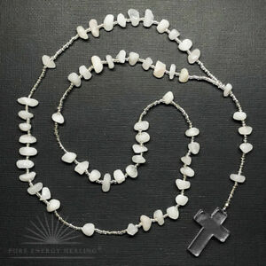 Rosary-Beads-White-Quartz-Crystal-Cross-Blessed-Energised-John-of-God-Brazil