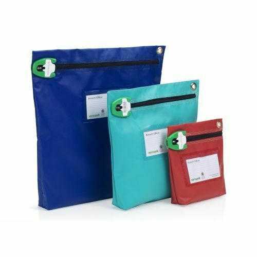 Versapak Tamper-Evident Heavyweight Material Zip Secure Cash Bags /& T Seals