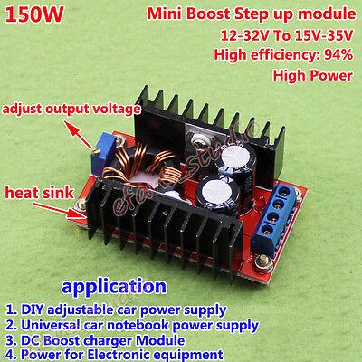 Step Up 150W Boost 10A DC-DC Motor Driver Adjustable Converter Charger 12V 24V 3