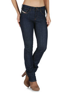 Diesel Straitzee 0881K Damen Jeans Hose Regular Slim Straight