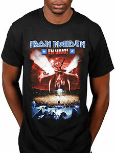 Image Is Loading Official Iron Maiden En Vivo T Shirt Seventh