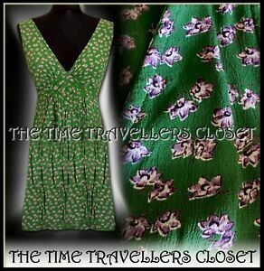 4468a58f862 Kate Moss Topshop Green White Leaf Sexy Mini Dress Crochet 60s 70s ...