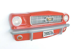 AUTO-MUSTANG-FRONT-DEKO-65ER-OLDTAIMER-US-CAR-WERKSTATT-FAN-ARTIKEL-MOBEL-WAND