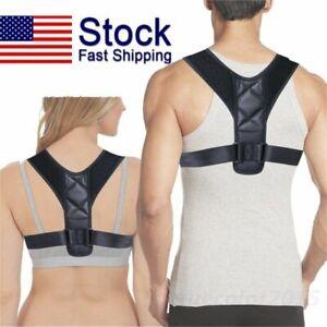 Body-Wellness-Posture-Corrector-Adjustable-Back-Shoulder-Support-Brace-Belt-XL