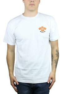 Brixton-Mens-Rally-Standard-Fit-Short-Sleeve-T-Shirt-White-M-New