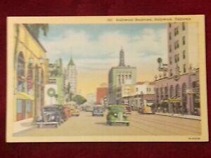 Postcard-United-States-Hollywood-Boulevard-California-19309