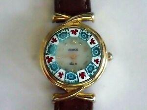 Ladies Watch MURANO GLASS, Italian,  Venice, Mini, Goldplaterd